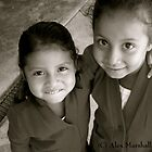 Smiling Mayan Children by Alex Marshall
