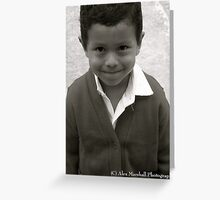 Smiles from a Mayan Boy Greeting Card