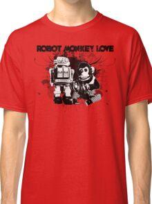 Robot Monkey Love Classic T-Shirt