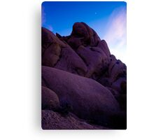 Monolith at Dusk, Joshua Tree Canvas Print