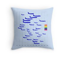 Flight to equality Throw Pillow