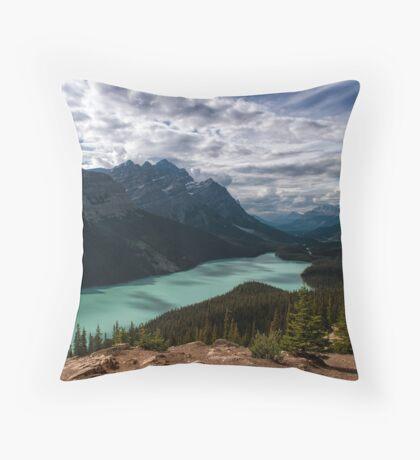 (Nearly) Clear Skies at Peyto Lake Throw Pillow