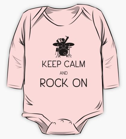 Keep Calm and ROCK ON, Drummer Girl! One Piece - Long Sleeve
