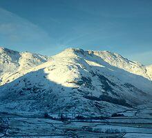 Bowfell in Winter by Jamie  Green