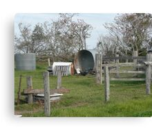 A Collection of old Farm Equipment. Canvas Print
