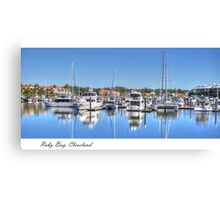 """Raby Reflections"", Raby Bay, Cleveland, Australia Canvas Print"