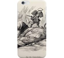 Cartoons by Sir John Tenniel selected from the pages of Punch 1901 0140 Jap the Giant Killer iPhone Case/Skin