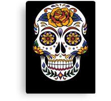 Sugar Floral Skull  Canvas Print