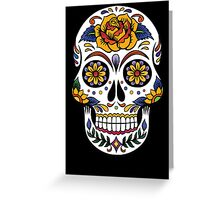 Sugar Floral Skull  Greeting Card