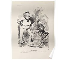Cartoons by Sir John Tenniel selected from the pages of Punch 1901 0100 Plain English Poster