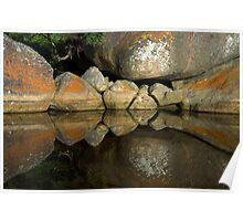 Tidal River Rocks Poster