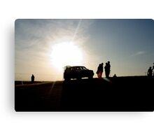 Desert Sillhouette - 4WD Canvas Print