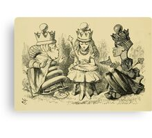 Through the Looking Glass Lewis Carroll art John Tenniel 1872 0210 Nothing Would Remain Canvas Print
