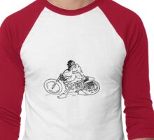 Flat Tracker '70s Men's Baseball ¾ T-Shirt