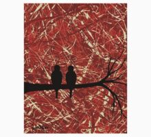 LOVEBIRDS: THE REMAINS OF THE DAY (abstract art) ~ Kids Clothes