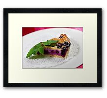 Blueberry Tarte  Framed Print