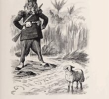 Cartoons by Sir John Tenniel selected from the pages of Punch 1901 0131 The French Wolf and the Siamese Lamb by wetdryvac