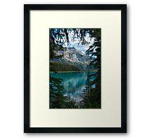 A Peek of Emerald Lake Framed Print