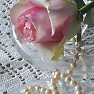 Rose and pearls by Heather Thorsen