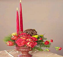 Red Rose Centerpiece by Epeaches