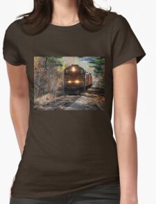 Vintage Train Engine Womens Fitted T-Shirt