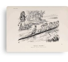 Cartoons by Sir John Tenniel selected from the pages of Punch 1901 0111 Advance Australia Canvas Print