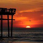CASINO PIER SUNRISE ,SEASIDE HEIGHTS NJ by MIKESANDY