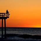 OCEAN GROVE NEW JERSEY FISHING PIER by MIKESANDY