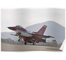 Singapore F16 Landing,Avalon Airshow,Australia 2015 Poster