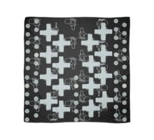 7 DAYS OF SUMMER- 70's KINDA PUNK- BLACK CROSS BOHO Scarf