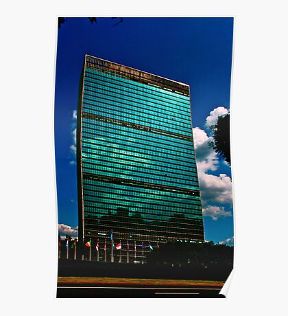 The United Nations Building Poster
