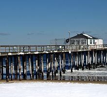 WINTER AT OCEAN GROVE NEW JERSEY FISHING PIER by MIKESANDY