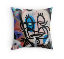 Urban art caricature Throw Pillow