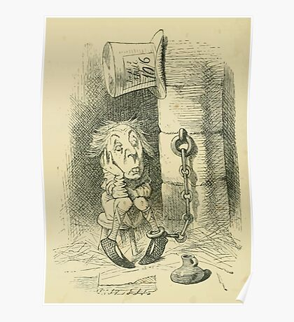 Through the Looking Glass Lewis Carroll art John Tenniel 1872 0116 Were You Ever Punished Poster
