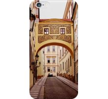 Prague. Sgraffito arch iPhone Case/Skin