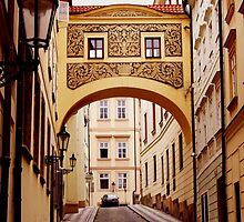 Prague. Sgraffito arch by Xinnie