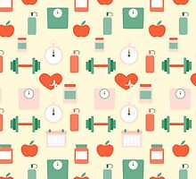 Fitness seamless pattern by Xinnie