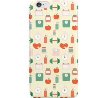 Fitness seamless pattern iPhone Case/Skin