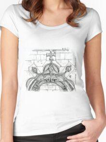 Mosteiro da Batalha sketch Women's Fitted Scoop T-Shirt