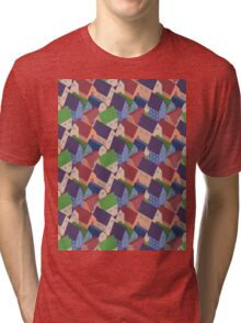 Abstract houses seamless pattern Tri-blend T-Shirt