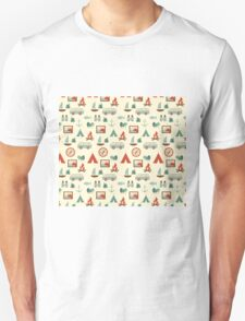 Simple abstract seamless tourist pattern Unisex T-Shirt