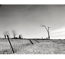 Old Farm Site on a sub zero day Photographic Print