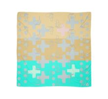 7 DAYS OF SUMMER- 70's KINDA PUNK- TEAL CROSS BOHO Scarf