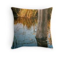 Lone Tree in Beaver pond Throw Pillow