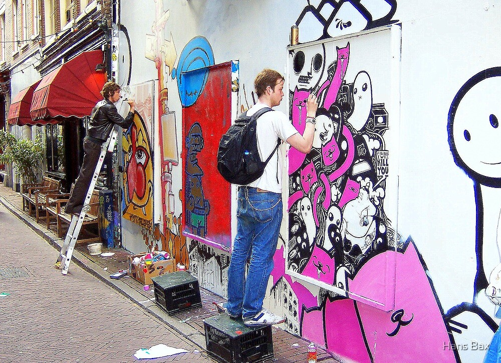 Wall painting in Amsterdam by Hans Bax