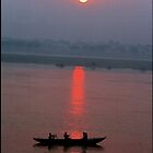 Sunrise, India, Varanassi by Mathieu Grandjean