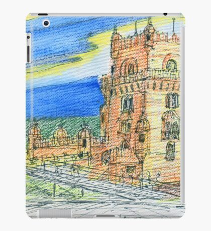 Belém Tower skecth on canvas iPad Case/Skin