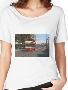 Leeds Tram Street Scene 1950s Women's Relaxed Fit T-Shirt