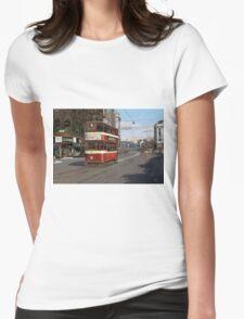 Leeds Tram Street Scene 1950s Womens Fitted T-Shirt