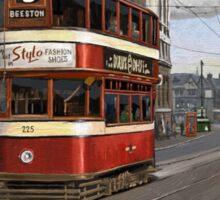 Leeds Tram Street Scene 1950s Sticker